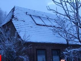 Dach mit Schnee